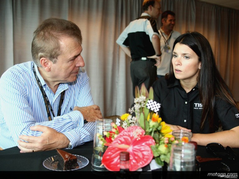 Indycar driver Danica Patrick and François Thiébaud, President of Tissot Worldwide