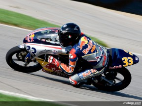 Sturla Fagerhaug on his way to victory at Indianapolis