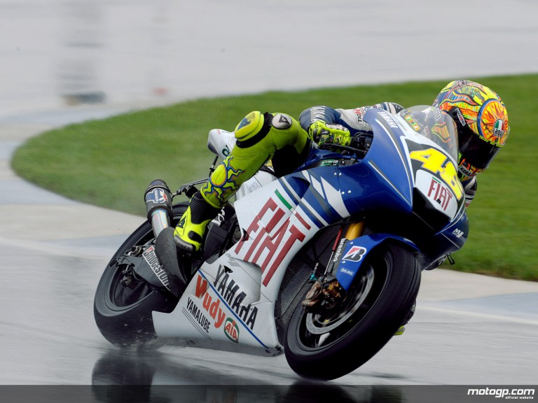 Valentino Rossi in action at Indianapolis