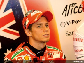 Ducati´s Casey Stoner in the garage