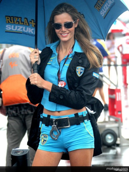Rizla Suzuki Paddock Girls at the Indianapolis Motor Speedway