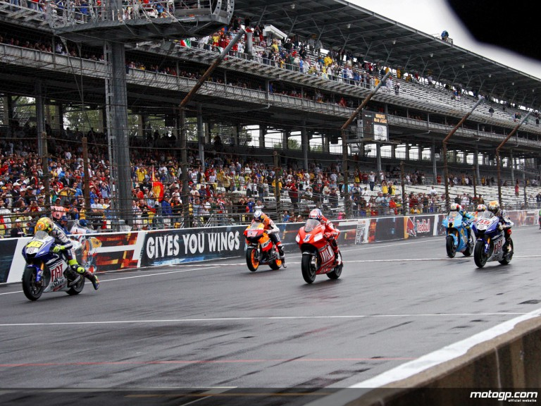 MotoGP race starts at the Indianapolis Motor Speedway