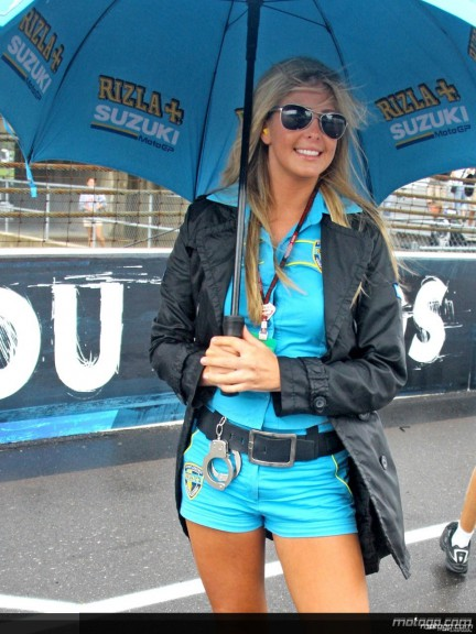 Rizla Suzuki Paddock Girl at the Indianapolis Motor Speedway