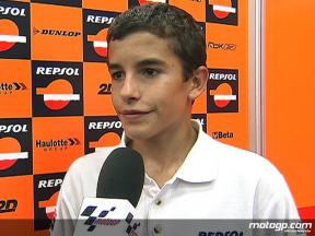 Marquez on fearless 125cc performance