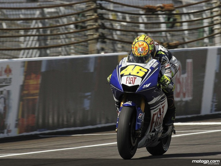 Rossi in action at Indy
