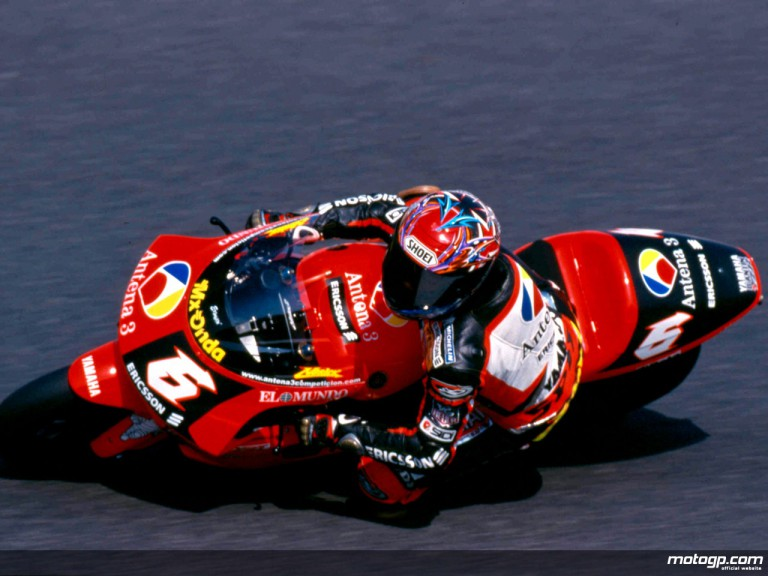 Norick Abe on his way to victory at Motegi in 2000