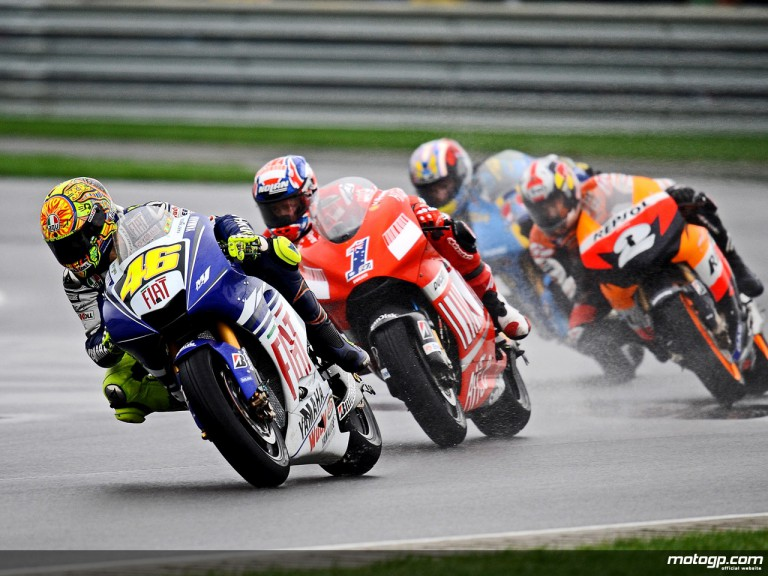 Valentino Rossi ahead of Stoner, Pedrosa and Spies at Indianapolis