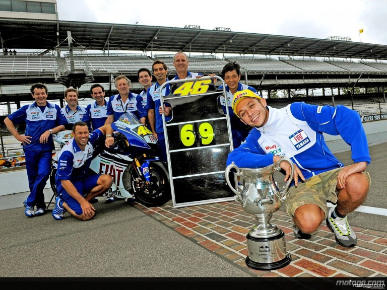 Valentino Rossi hits 69 wins at the Brickyard