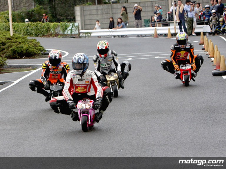 Japanese riders enjoy pocket bikes outing