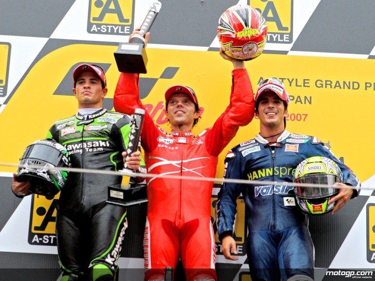 De Puniet, Capirossi and Elias on the Podium at Motegi 2007