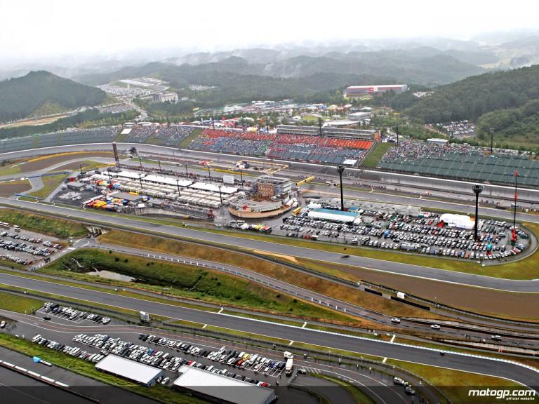 Aerial shot of the Motegi Circuit