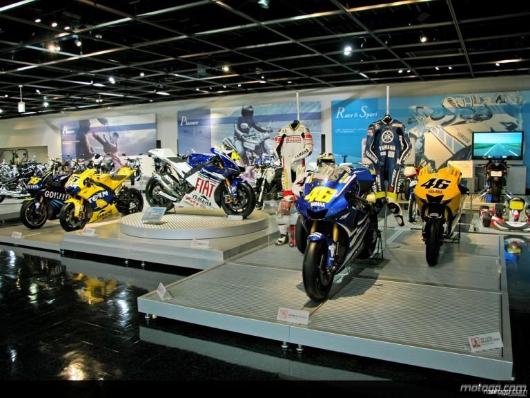 Yamaha MotoGP bikes in Iwata