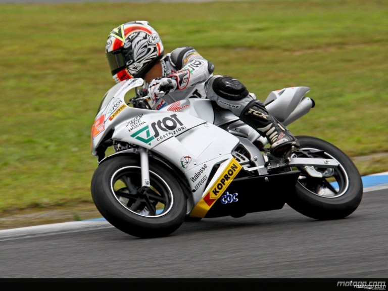Yuki Takahashi at the Motegi minibike race on the eve of the Japanese GP