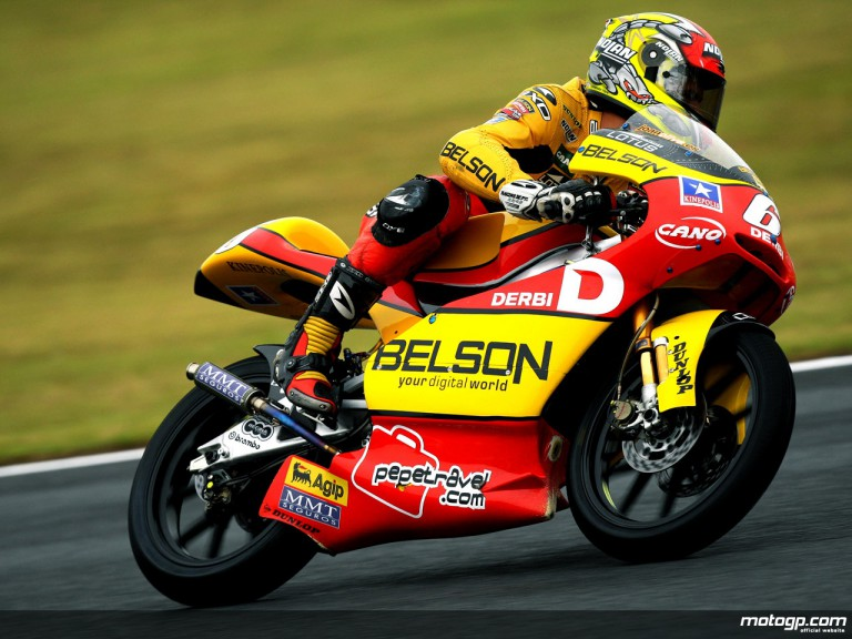 Joan Olivé in action in Motegi (125cc)