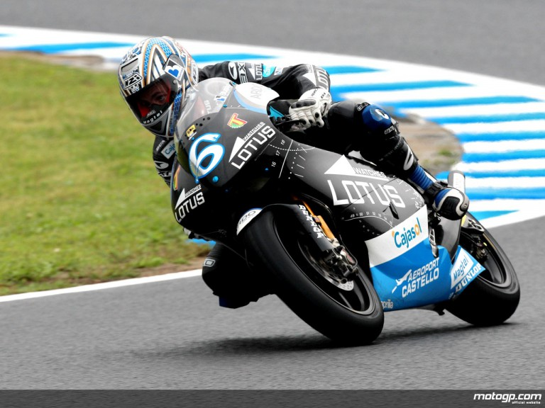 Alex Debon in action in Motegi (250cc)
