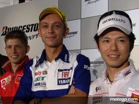 Bridgestone MotoGP riders meet the press in Tokyo