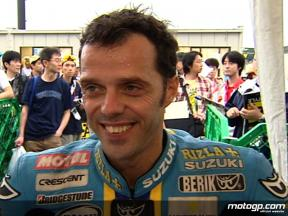 Capirossi enjoys Japanese atmosphere