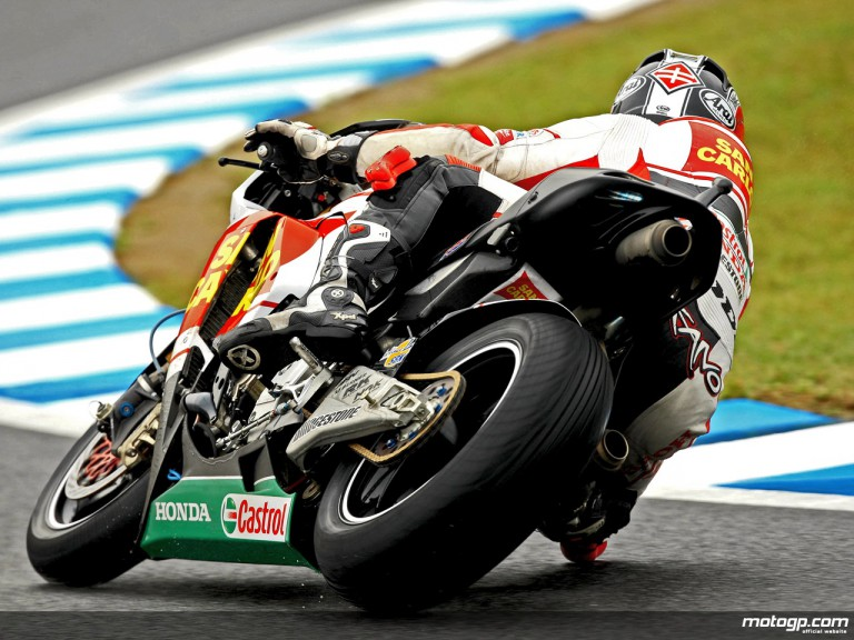 Shinya Nakano during practice in Motegi (MotoGP)