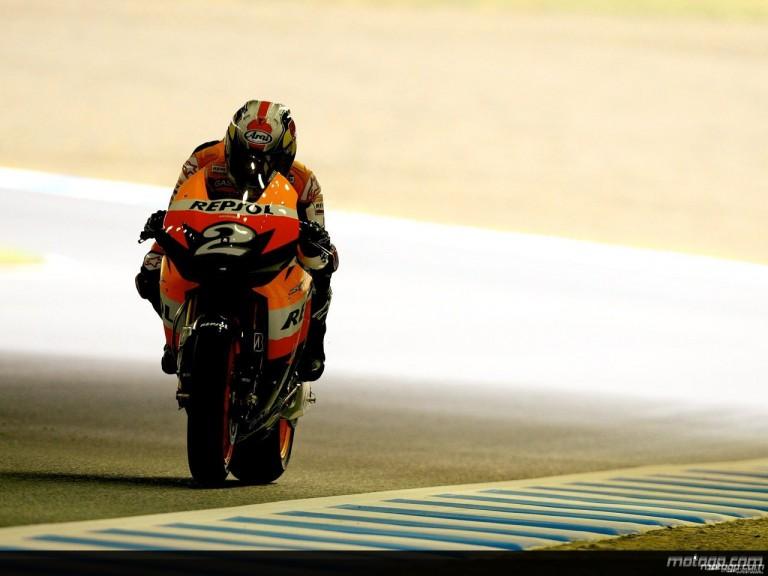 Dani Pedrosa during practice in Motegi (MotoGP)