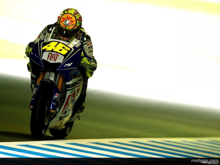 Valentino Rossi during practice in Motegi (MotoGP)