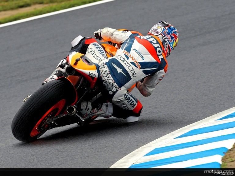 Nicky Hayden during practice in Motegi (MotoGP)