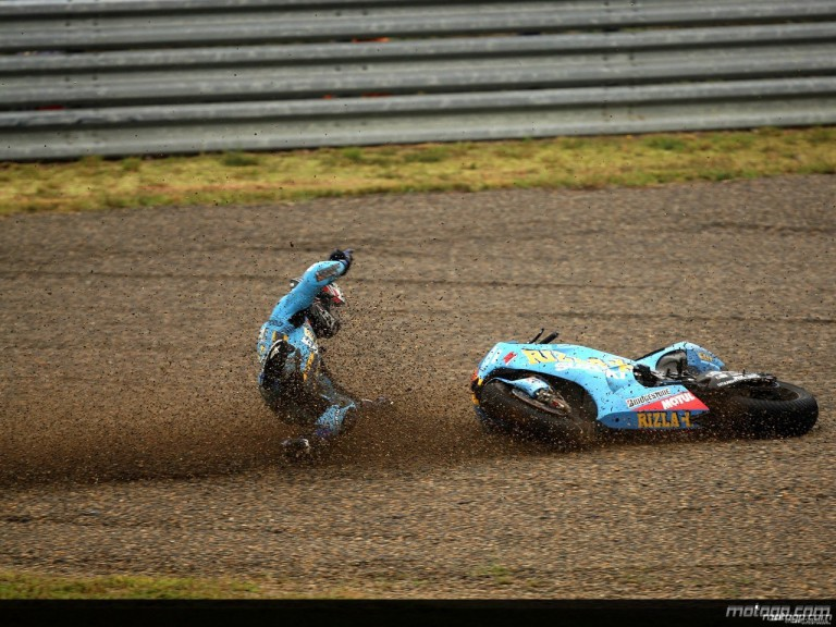 Akiyoshi´s crash during practice in Motegi
