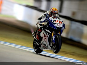 Jorge Lorenzo in action in Motegi (MotoGP)