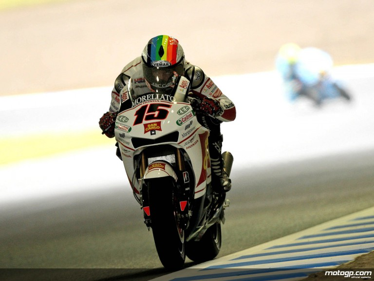 Alex de Angelis in action in Motegi (MotoGP)