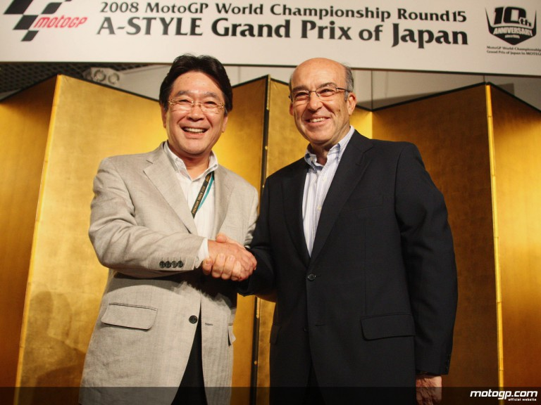 Twin Ring Motegi and Dorna Sports representants extend MotoGP deal