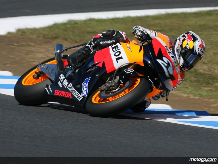 Repsol Honda´s Dani Pedrosa on track at Motegi