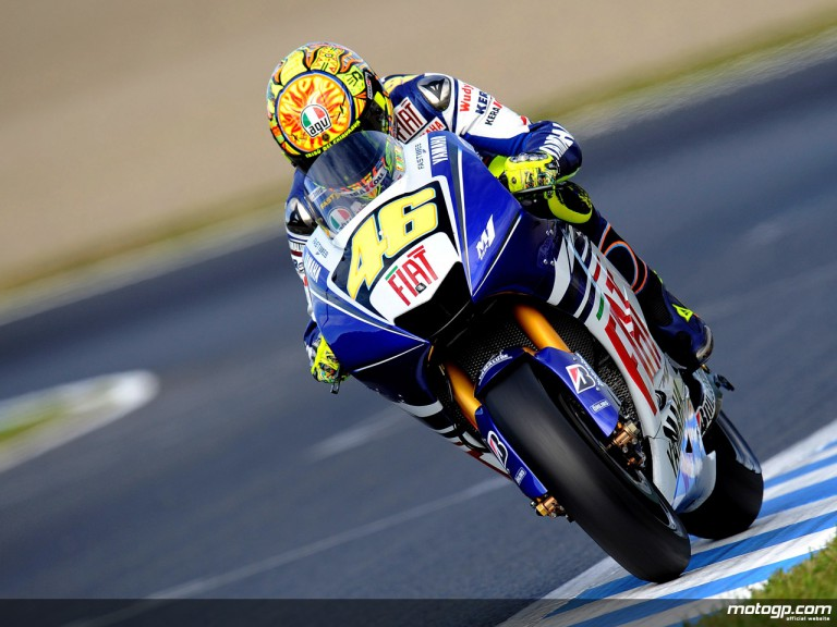 Valentino Rossi in action in Motegi (MotoGP)