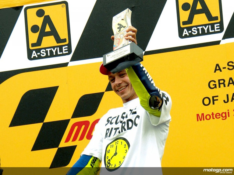 Rossi´s eight world title celebration