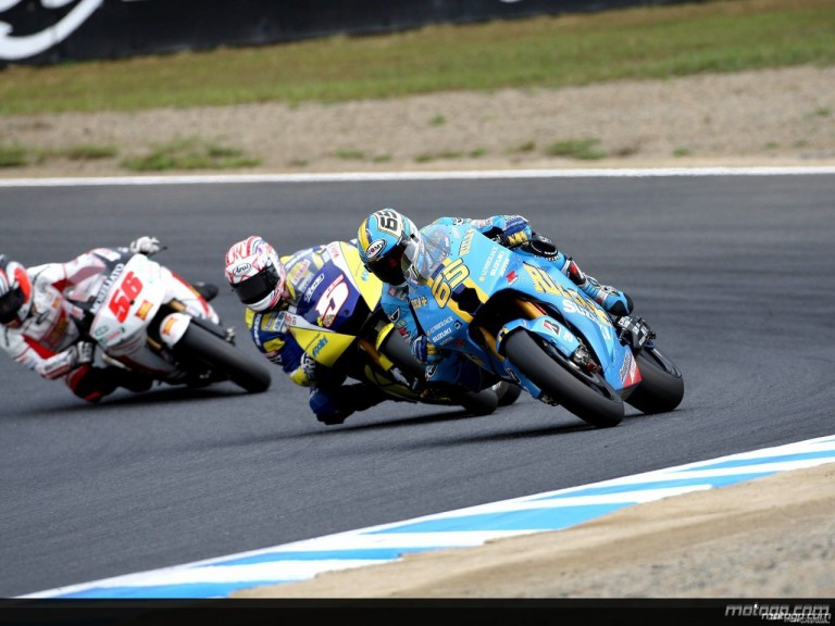 MotoGP group in action in Motegi
