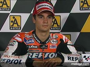 Dani Pedrosa interview after race in Motegi