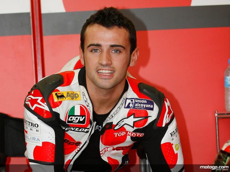 Team Toth Aprilia rider Hector Barberá (250cc)