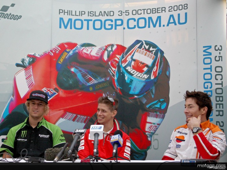 West, Stoner and Hayden talk to the press in Melbourne