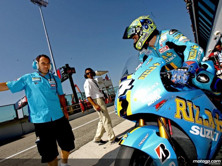 Chris Vermeulen leaving Rizla Suzuki garage