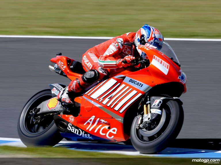 Casey Stoner in action (MotoGP)