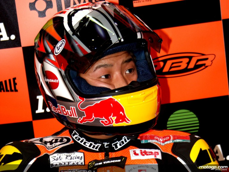 Tomoyoshi Koyama in the ISPA KTM garage