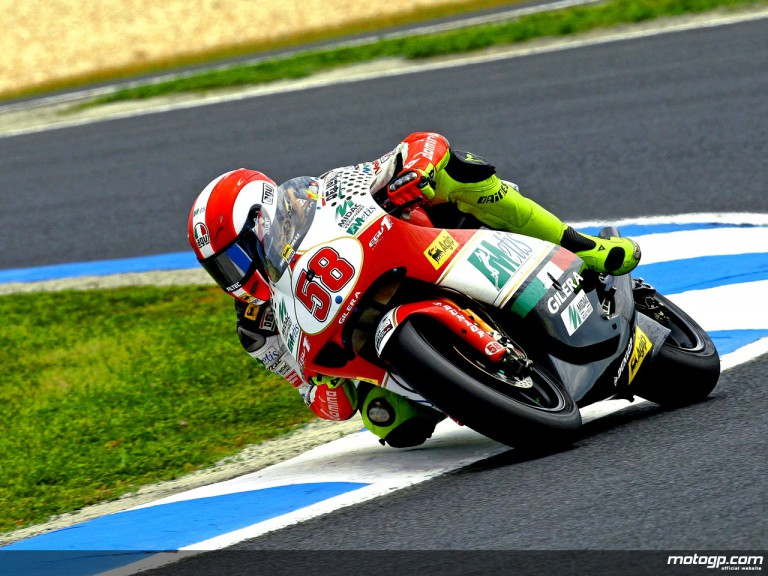 Marco Simoncelli in action in Phillip Island (250cc)