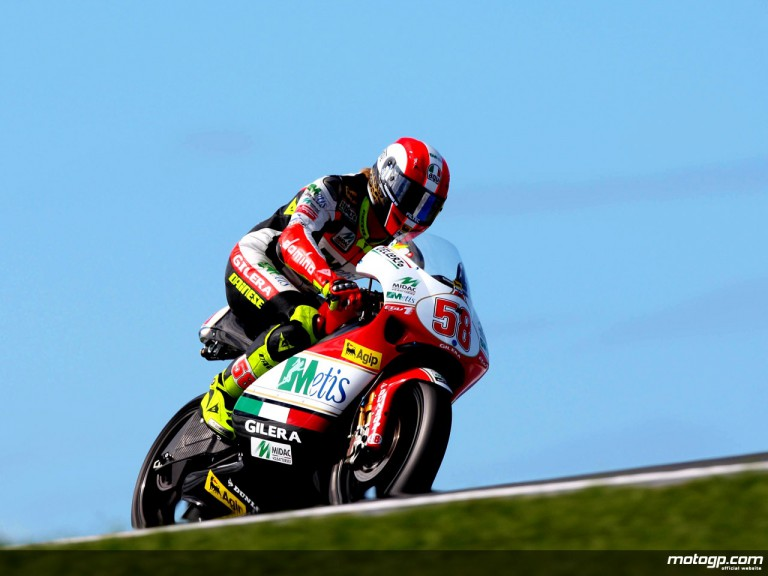 Marco Simoncelli on track at Phillip Island