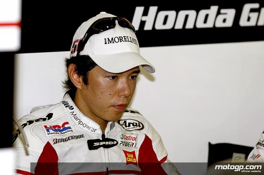 Shinya Nakano in the San Carlo Honda garage