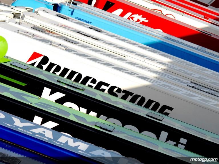 MotoGP Teams Trucks in the paddock