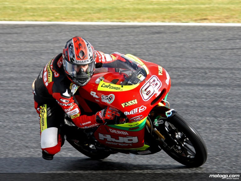 Mike di Meglio in action (125cc)