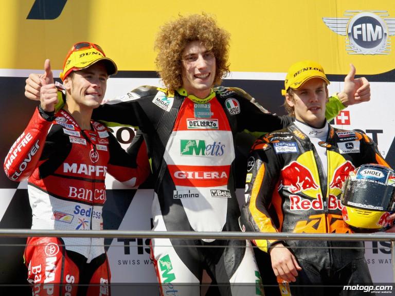 Bautista, Simoncelli and Kallio on the podium at Phillip Island (250cc)