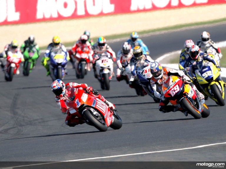 MotoGP group in action in Phillip Island