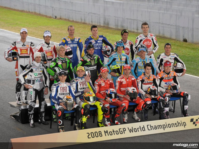The 2008 MotoGP riders gathered at the Jerez Official test
