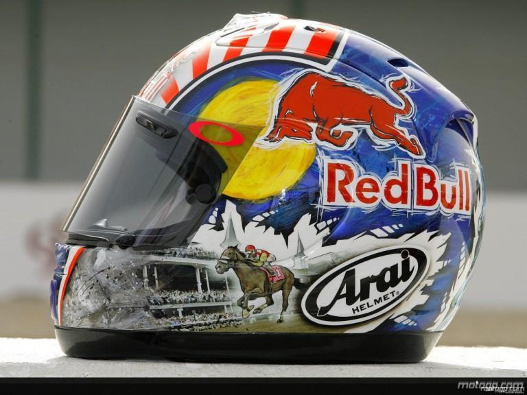 Nicky Hayden 2008 Helmet designs
