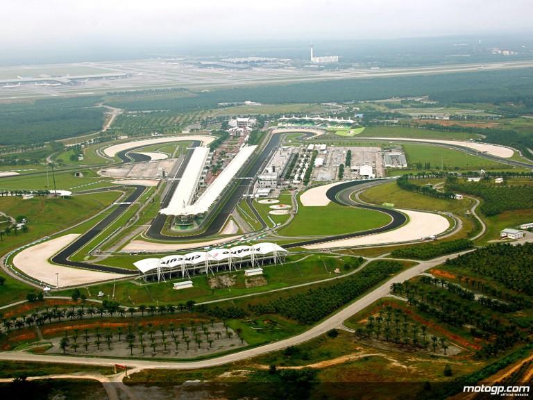Aerial shot of the Sepang circuit