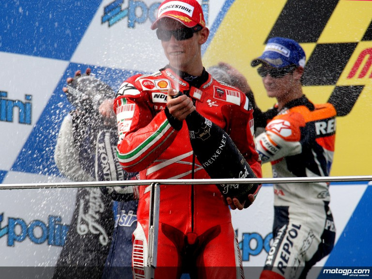 Casey Stoner and Dani Pedrosa on the Podium at Sepang, 2007